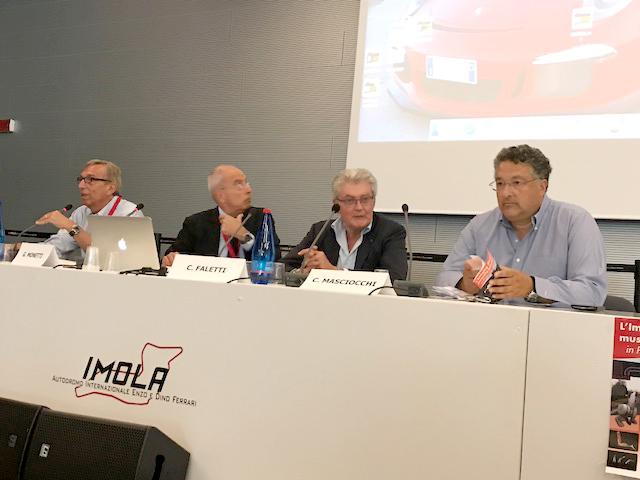"""G. Monetti apre i lavori del Congresso di Imola """" In pista con Brio"""" con C. Faletti, C. Masciocchi ed E. Castellacci"""