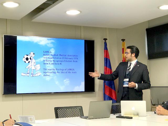 G. Tamburrino, collaboratore della Segreteria LAMICA, illustra le finalità dell'Associazione Italiana.