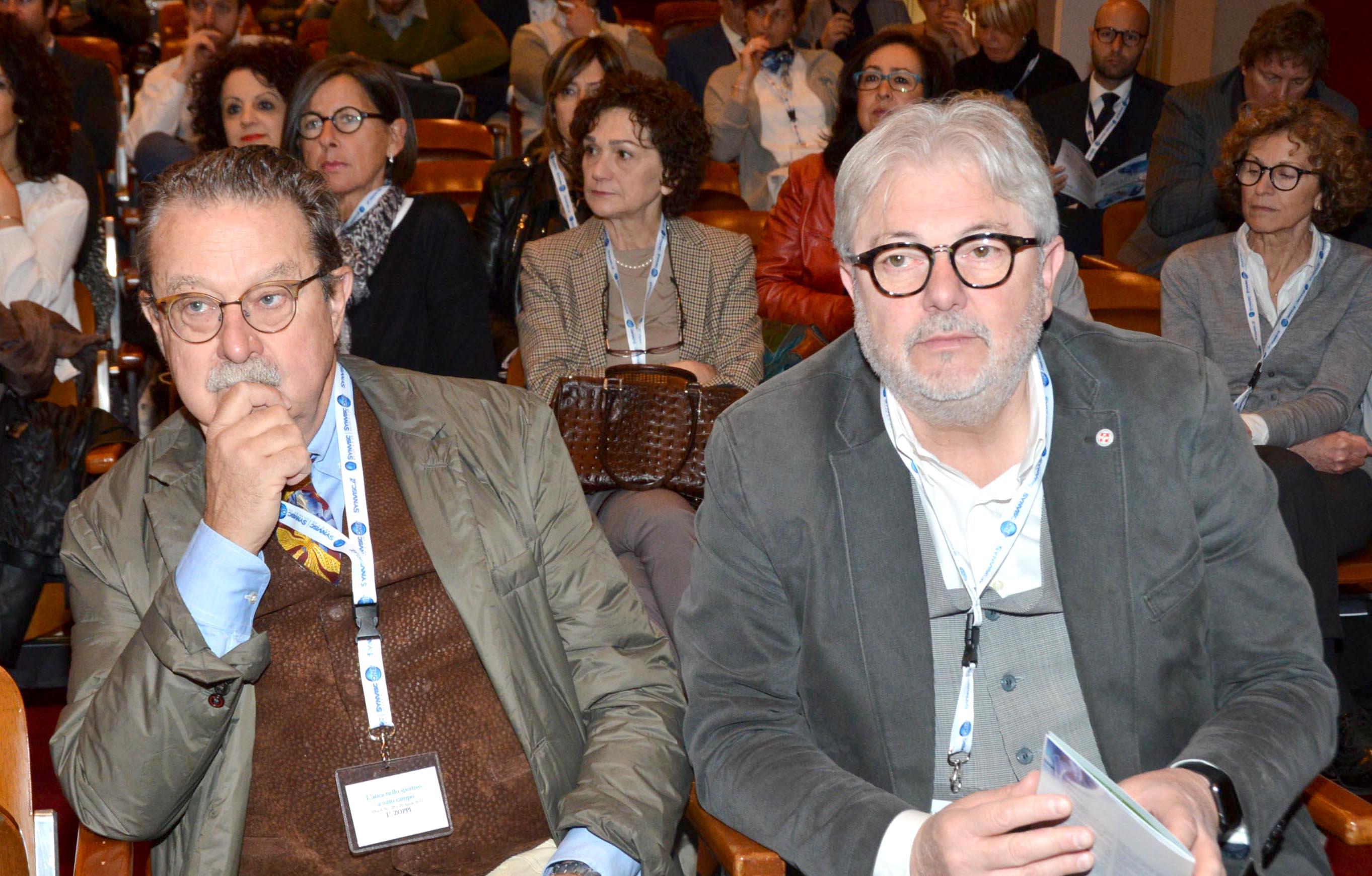 U. Zoppi e P. Tamburrino concentrati nel seguire i lavori del Congresso