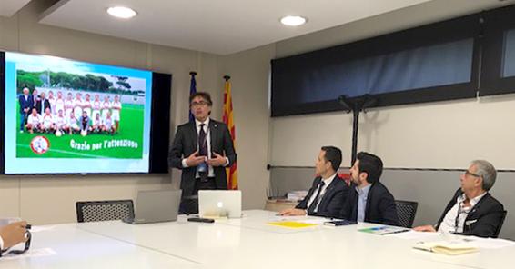 F. Tencone espone il progetto Europeo di una Associazione dei Medici del calcio